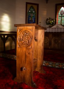 Credence table, St Raphael's Church, Fern Tree, Tasmania