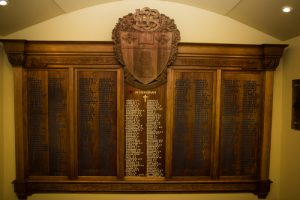 Honour roll, Launceston Church Grammar School.
