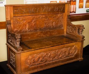Settle carved 1900.