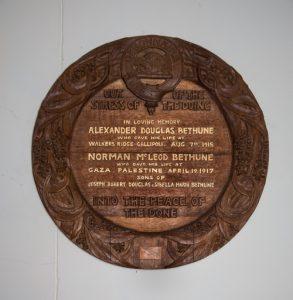 Memorial plaque, Ouse.