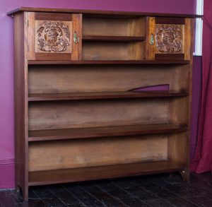 Bookcase carved for Nancy Field.
