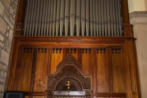 Organ screen, Holy Trinity Church, Hobart.