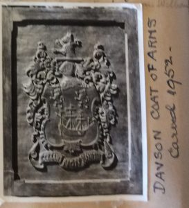 Coat of Arms from Nellie's scrapbook.