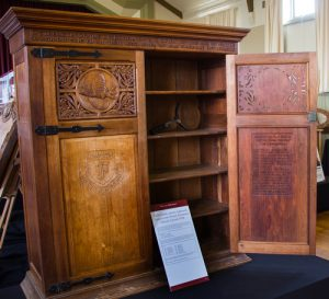 Field family sports cupboard, Launceston Church Grammar School.