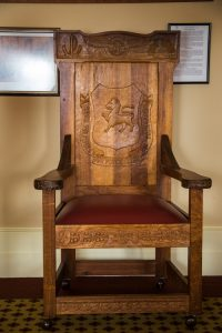 Presidents' chair, Naval, Military and Airforce Club, Hobart.