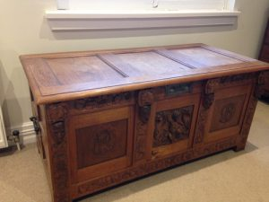 Dower chest for Madge Payne.