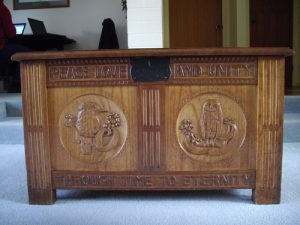 Dower chest for Mollie Field.