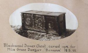 Dower chest for Grace Dangar from Nellie's scrapbook.