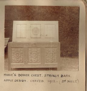 Dower chest for Marie Whitesides.