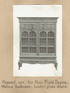 Bookcase carved for Alan Field Payne.