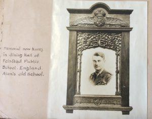 Framed photograph, Felsted School, Essex, England.