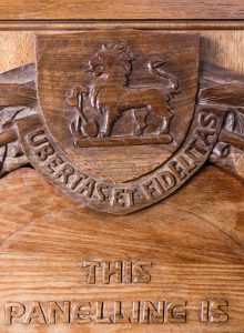 plaque close up shield
